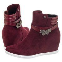 Sneakersy bordowe v274216 (bi34-c) marki Big star