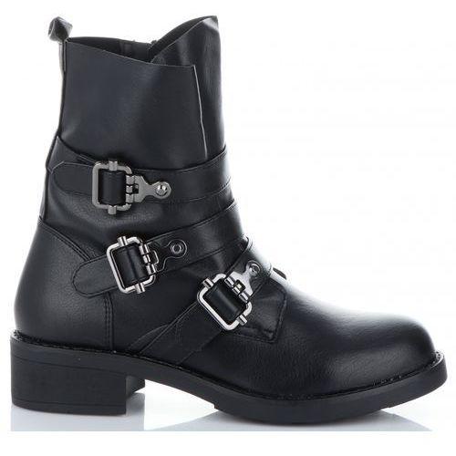 Lady glory Uniwersalne botki damskie firmowe i modne buty damskie marki czarne (kolory)