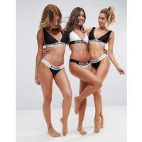 ASOS BRIDAL 'SQUAD' Elastic Slogan Tanga Bikini Bottom - Black