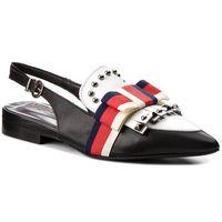 Sandały HEGO'S MILANO - 219 Nero/Bianco, kolor czarny