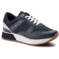 Sneakersy - tommy jacquard city sneaker fw0fw04026 midnight 403 marki Tommy hilfiger