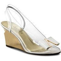 Sandały azurÉe - neoti 7doc vernis blanc/logo or marki Azurée