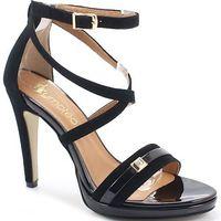 17639 czarne - sandały na szpilce marki Tymoteo