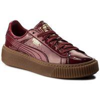Sneakersy - basket platform patent wn's 363314 04 tibetan red/tibetan red, Puma