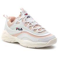 Sneakersy FILA - Ray Low Wmn 1010562.02Y White/Spanish Villa/Morning Mist, w 7 rozmiarach