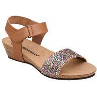Sandały buty Dr Brinkmann 710783-2 Brązowe - Brązowy ||Brokat ||Multikolor, kolor brązowy