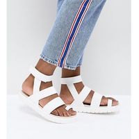 Monki Strap Detail Sandal - White, kolor biały