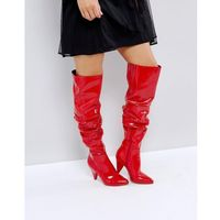 over the knee patent boot - red, Miss selfridge