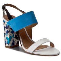 Sandały KAZAR - Eser 8458-03-99 Biały Niebieski, w 2 rozmiarach