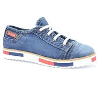 Półbuty Lanqier 40C221 jeans, kolor niebieski