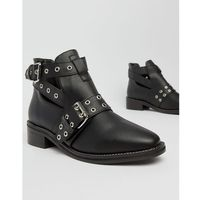 Truffle Collection Flat Ankle Boots - Black