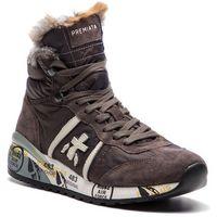 Premiata Sneakersy - alan-d 2685 brązowy