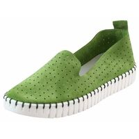 Półbuty Nessi 18390 - Zielone W, kolor zielony