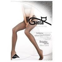 Rajstopy brigitte silver lurex kabaretki wz.02 marki Gatta
