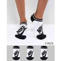 Nike 3 pack logo socks in white and black - multi