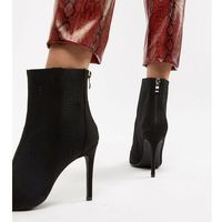 knitted stilletto ankle boots - black marki Truffle collection
