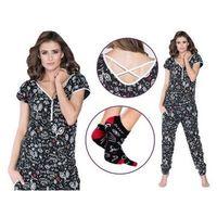 Kombinezon damski merida: czarny + skarpety, Italian fashion