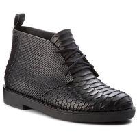 Botki MELISSA - Desert Boot Python + B 32366 Black 01003, kolor czarny
