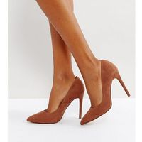 Asos paris wide fit pointed high heels - brown