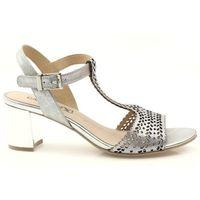 Sandały ażurowe caprice 28301 srebrne marki Buty caprice
