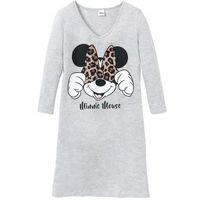 """Koszula nocna """"Myszka Minnie"""" bonprix jasnoszary melanż z nadrukiem, bawełna"""