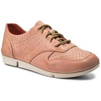 Clarks Półbuty - tri actor 261241524 coral leather