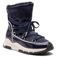 Botki TOMMY HILFIGER - Cool Technical Satin Winter Boot FW0FW03697 Midnight 403