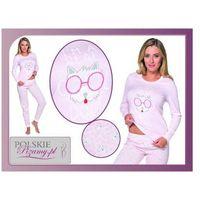 Italian fashion Piżama damska daisy: różowa