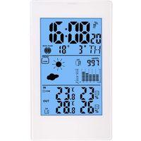 Stacja pogody barometr, zegar, budzik, higrometr, kalendarz - biała marki Biowin