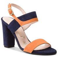 Sandały OLEKSY - 2290/B84/859/000/000 Granatowy Pomarańczowy, kolor pomarańczowy
