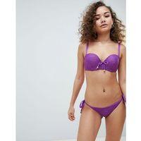 Pou moi bora bora underwired bikini top with removable straps - purple, Pour moi, XXS-S