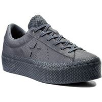 Converse Sneakersy - one star platform ox 559901c light carbon/light carbon
