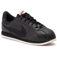 Nike Buty - cortez basic prm emb (gs) av1336 001 black/black/pale ivory