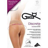 DISCRETE - Rajstopy damskie, część majtkowa bezszwowa 15 DEN, kolor różowy