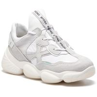 Sneakersy BRONX - 66240-CP BX 1574 Light Grey/Off White 2324, kolor biały