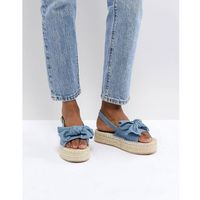 RAID Terry Chambray Flatform Denim Espadrilles - Blue, kolor niebieski