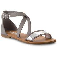 Sandały TOMMY JEANS - Metallic Flat Sandal EN0EN00206 Silver 000, 36-41