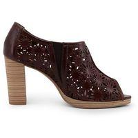 Buty za kostkę botki damskie ARNALDO TOSCANI - 7104K208-47, kolor beżowy