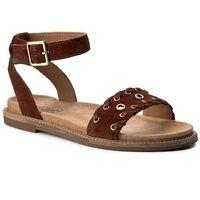 Sandały CLARKS - Corsio Amelia 261240754 Dark Tan Suede, kolor brązowy