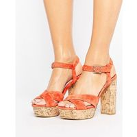leela platform heeled sandals - orange marki Faith