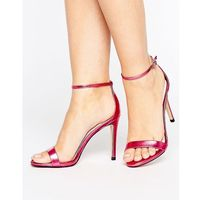 stecy metallic pink barely there heeled sandals - pink marki Steve madden