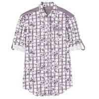 Koszula nocna z dżerseju, z plisą guzikową bonprix w kratę - w kwiaty