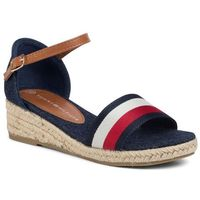 Espadryle - rope wedge sandal t3a2-30656-0048y blue/white/red 004, Tommy hilfiger, 35-37