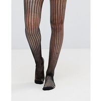 Jonathan Aston Zip Net Black Tights - Black, kolor czarny