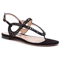Sandały STUART WEITZMAN - Allura ZL77289 Black Sue/Crystal