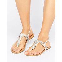 Miss kg danni plait gem sandal - beige