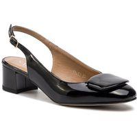 Sandały - 3630 czarny lakier, Sagan, 36-40