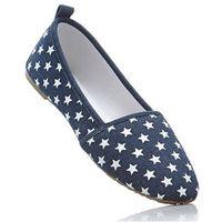Buty wsuwane niebieski dżins + biały marki Bonprix