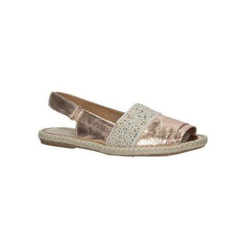 Espadryle Jezzi Miedziane sandały z nitami MR1631-2