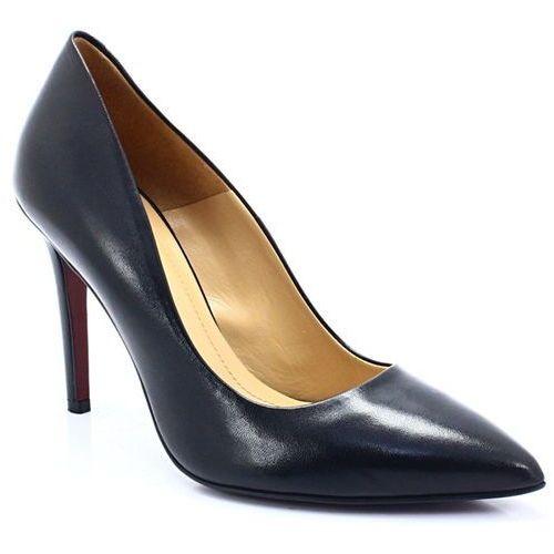 Solo femme 34201 czarne - klasyczne szpilki - czarny